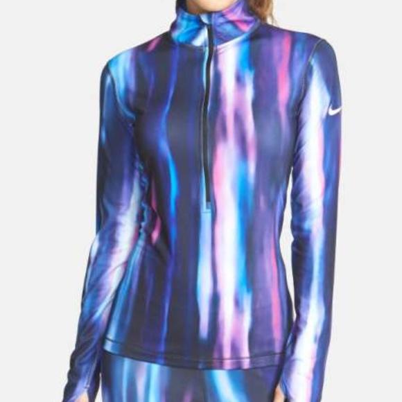Nike 'Pro Hyperwarm' Aurora Half Zip Top